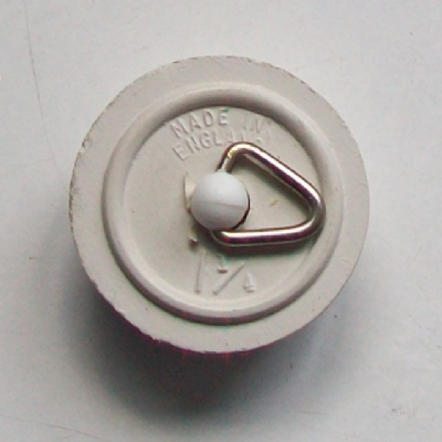 White 1.1/4 Tapered Small Rubber Plug - 74000280